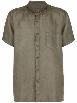 Рубашка на пуговицах 120% Lino. Цвет: зеленый