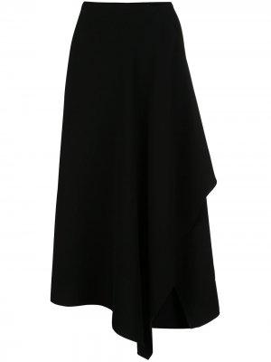 Юбка асимметричного кроя с драпировкой Natori. Цвет: черный
