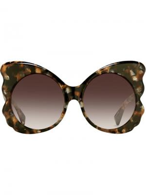 Special oversized sunglasses Matthew Williamson. Цвет: коричневый