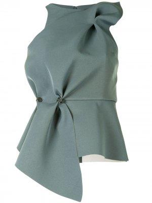 Блузка со сборками Rachel Gilbert. Цвет: зеленый