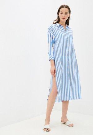 Платье пляжное Phax. Цвет: голубой