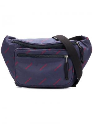 Explorer Logos belt bag Balenciaga. Цвет: синий