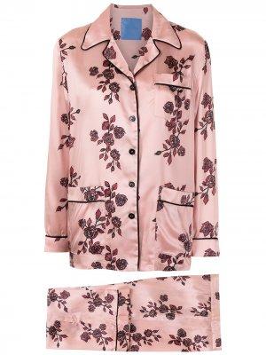 Пижама с цветочным принтом Macgraw. Цвет: розовый
