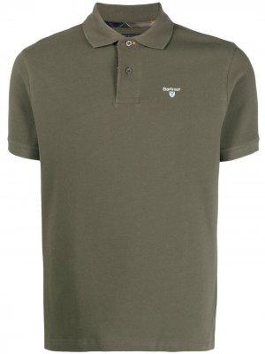 Рубашка поло с вышитым логотипом Barbour. Цвет: зеленый