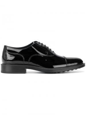 Ботинки-оксфорды Tod's. Цвет: черный