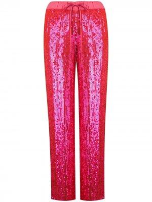 Широкие брюки с пайетками P.A.R.O.S.H.. Цвет: розовый
