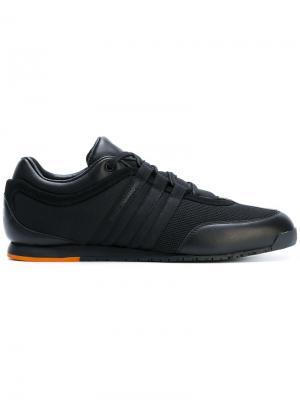 Кроссовки на шнуровке Y-3. Цвет: черный