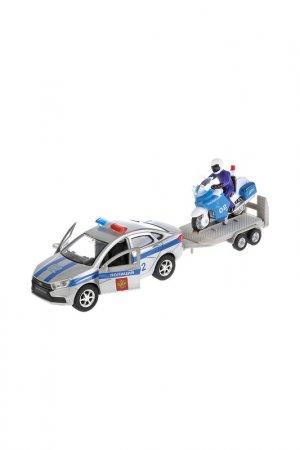 Набор Машина и мотоцикл ТЕХНОПАРК. Цвет: серебряный