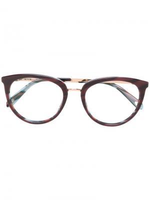 Очки в оправе кошачий глаз Tiffany & Co Eyewear. Цвет: коричневый