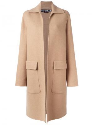 Пальто с карманами клапанами Rochas. Цвет: нейтральные цвета