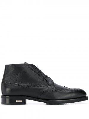 Ботинки с перфорацией Baldinini. Цвет: черный