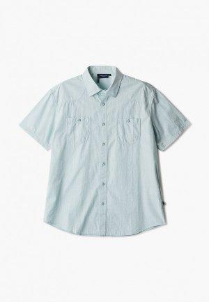 Рубашка Finn Flare. Цвет: бирюзовый