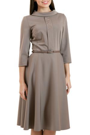Платье Chateau Fleur. Цвет: коричневый