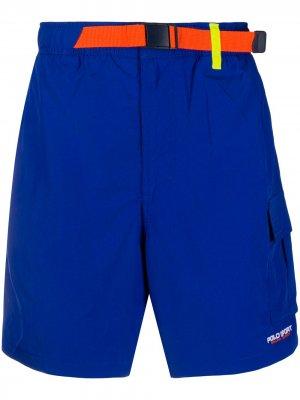 Плавки-шорты с накладным карманом POLO RALPH LAUREN SPORT. Цвет: синий