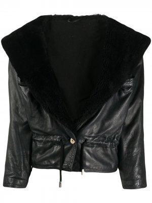 Куртка 1980-х годов с широкими лацканами A.N.G.E.L.O. Vintage Cult. Цвет: черный