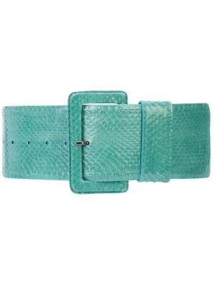 Ремень с пряжкой Carolina Herrera. Цвет: синий
