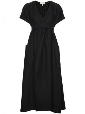 Платье миди с запахом Ingrid Mara Hoffman. Цвет: черный