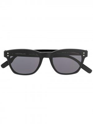 Солнцезащитные очки с логотипом Montblanc. Цвет: черный