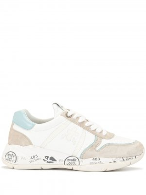 Кроссовки Layla на шнуровке Premiata. Цвет: белый