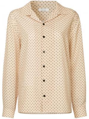Рубашка на пуговицах с треугольным принтом We11done. Цвет: коричневый