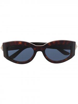 Солнцезащитные очки Robin Jimmy Choo Eyewear. Цвет: коричневый