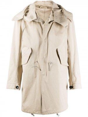 Пальто с косым воротником Ten C. Цвет: нейтральные цвета