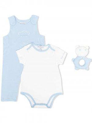 Комплект комбинезона, боди и игрушки Emporio Armani Kids. Цвет: синий