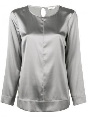Сатиновая блузка Peserico. Цвет: серый