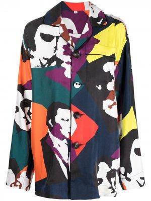 Пижамная рубашка с принтом  Kiss AZ FACTORY. Цвет: красный