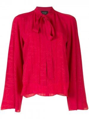 Блузка с бантом и длинными рукавами Giambattista Valli. Цвет: красный