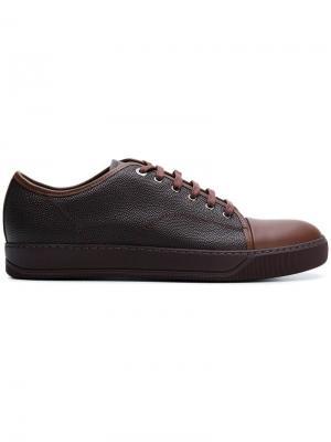 Теннисные кроссовки с контрастным носком Lanvin. Цвет: коричневый