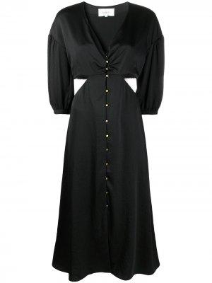 Платье-рубашка Rose с вырезами Ba&Sh. Цвет: черный