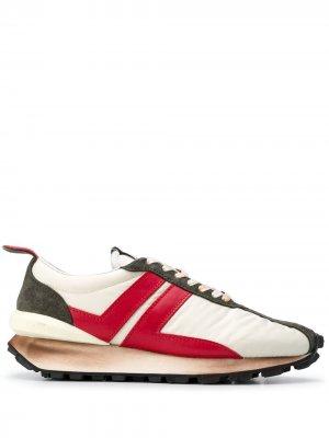 Кроссовки на утолщенной подошве со шнуровкой LANVIN. Цвет: нейтральные цвета