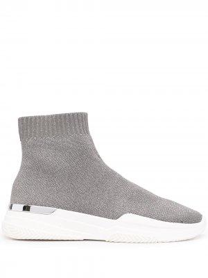 Кроссовки-носки Mallet. Цвет: серебристый