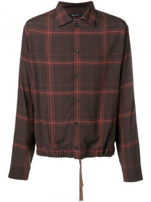 Back print shirt Qasimi. Цвет: коричневый