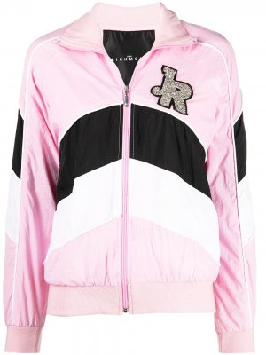 Декорированная спортивная куртка на молнии John Richmond. Цвет: розовый