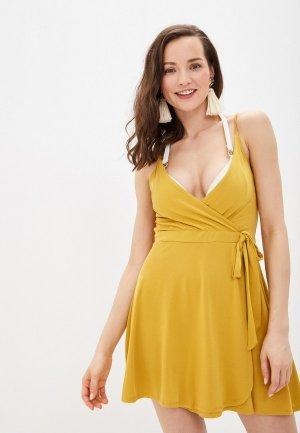 Платье пляжное womensecret women'secret. Цвет: желтый