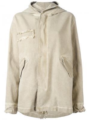 Пальто на молнии с капюшоном Mr & Mrs Italy. Цвет: нейтральные цвета