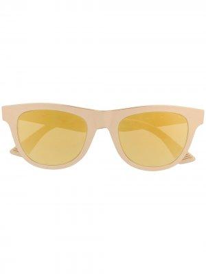 Солнцезащитные очки  Original 01 Bottega Veneta Eyewear. Цвет: золотистый