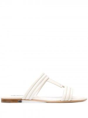 Tods сандалии со вставками Double T Tod's. Цвет: белый