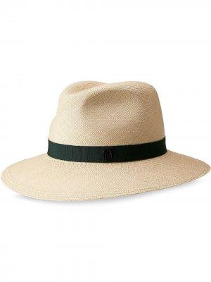 Шляпа-федора Henrietta Maison Michel. Цвет: нейтральные цвета