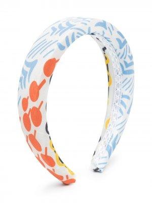 Ободок с абстрактным принтом Mi Sol. Цвет: белый