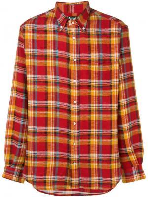 Фланелевая клетчатая рубашка Gitman Vintage. Цвет: красный