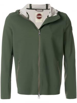 Куртка на молнии с капюшоном Colmar. Цвет: зеленый