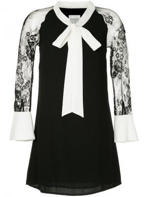 Короткое платье с бантом Edward Achour Paris. Цвет: черный