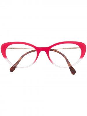 Очки в оправе кошачий глаз Miu Eyewear. Цвет: розовый