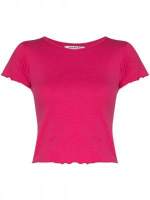 Укороченная футболка Baby Frankies Bikinis. Цвет: розовый