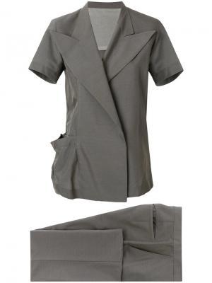 Брючный костюм-двойка Yohji Yamamoto Vintage. Цвет: серый