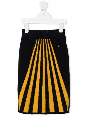 Трикотажная юбка в полоску Bobo Choses. Цвет: синий