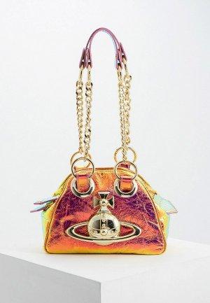Сумка Vivienne Westwood. Цвет: золотой